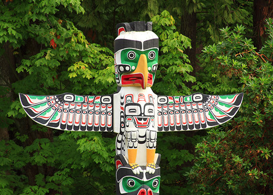 Totem Pole from First Nation - Vancouver